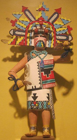 Polik-mana - Polik-mana (butterfly maiden) kachina, Arizona, Hopi people, Honolulu Museum of Art