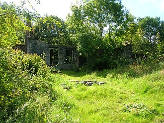 Auchans Castle, Ayrshire - The ruins of old Parkthorn House