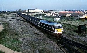 English: Passenger train for Wisbech
