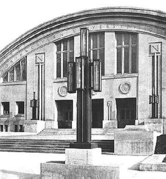George W. Maher - Patten Gymnasium entrance (demolished)