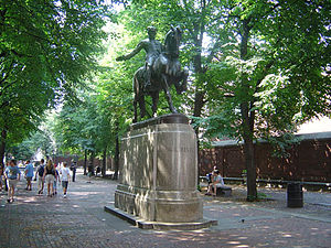 Old North Church - This statue of Paul Revere outside the Old North Church commemorates his memorable ride.