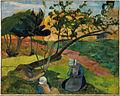Paul Gauguin - Paysage avec la femme bretonne Deux.jpg