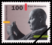 Paul Hindemith - stamp - Germany 1995