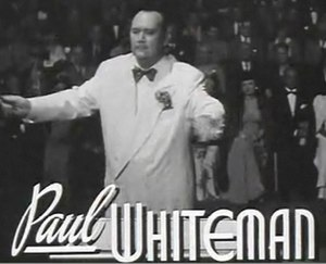 Paul Whiteman - A frame from the trailer for the film Rhapsody in Blue (1945)