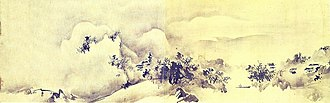 Sesson Shukei - Image: Paysage de la Hsiao Hsiang par le peintre japonais Sesson Shukei (1504 après 1589)