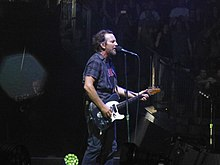 b5c4268ca4e Vedder with Pearl Jam in London