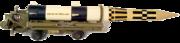 satellite rocket on launcher