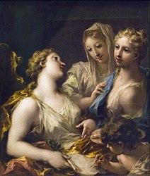 Giovanni Antonio Pellegrini: Modesty Presenting Painting to the Academy