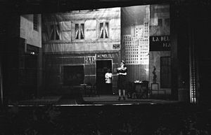 Pepita Embil - Embil in a production of the zarzuela, La del manojo de Rosas, in San Sebastián, 1942