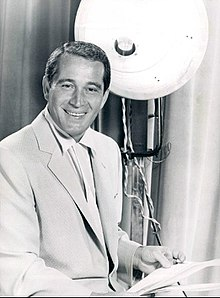 Perry Como on television show set 1956
