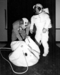 Personal Rescue Enclosure with Shuttle EVA suit.png