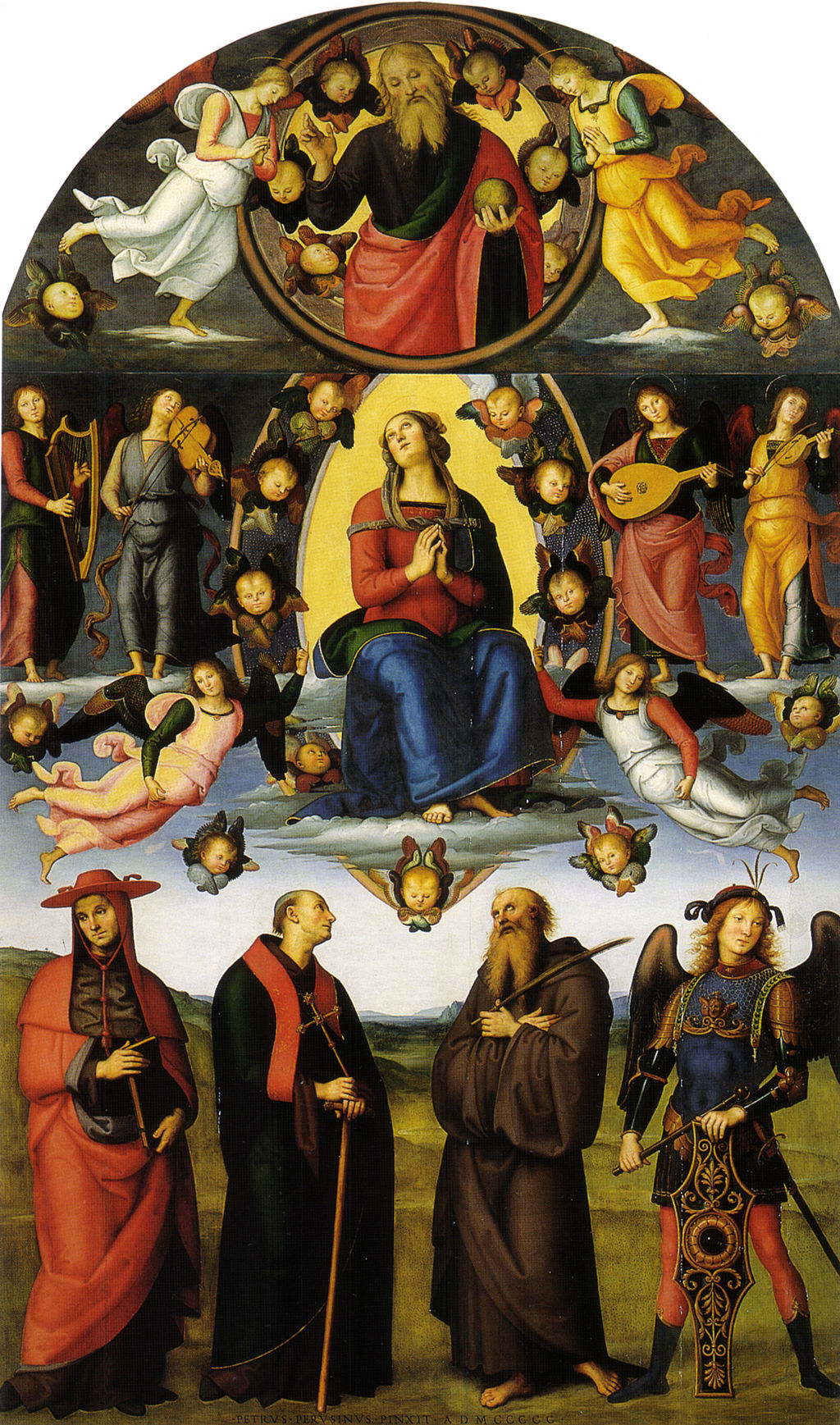 Perugino, pala di vallombrosa