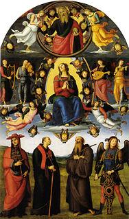 <i>Vallombrosa Altarpiece</i> Painting by Pietro Perugino