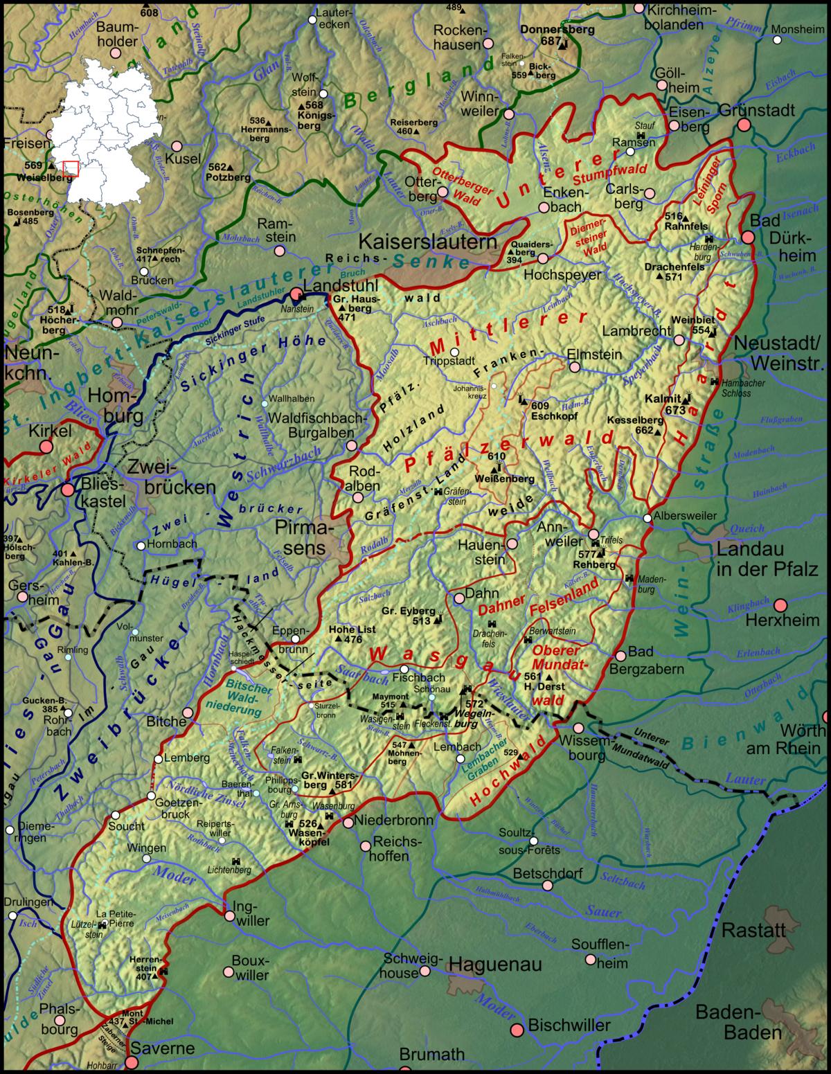 Palatinate Forest Wikipedia