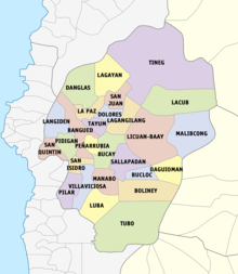 Lovely Political Map Of Abra Province Showing Its Component Municipalities