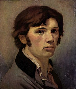 Philipp Otto Runge - Self Portrait by Phillipp Otto Runge, at the Kunsthalle, Hamburg