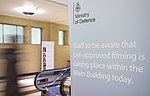 Photography warning sinage within the Ministry of Defence. MOD 45163489.jpg
