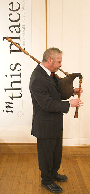 Welsh bagpipes -  Welsh Bagpipe (double-reed type) pitched in G Major made by Jonathan Shorland.