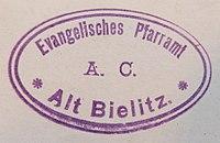 Pieczęć Parafii Ewangelickiej w Starym Bielsku 1900.jpg