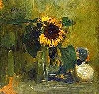 Piet Mondriaan - Sunflower in a vase - 1991.214 - Detroit Institute of Arts.jpg