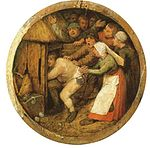 Pieter Brueghel the elder - 1568 - The Drunkard pushed into the pigsty.jpg