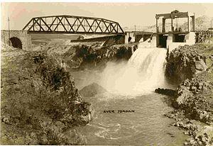 Naharayim - Yarmouk Lake Dam, circa 1935