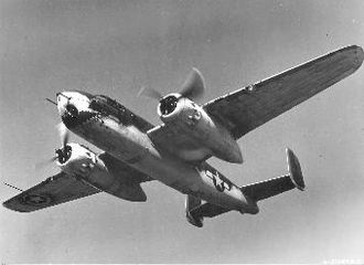 Naval Training Center Orlando - A North American B-25G Mitchell from the Army Air Forces School of Applied Tactics 17 April 1944