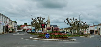 Aigrefeuille-d'Aunis - Place de la Republic, the centre of Aigrefeuille d'Aunis and the nerve centre of the city.