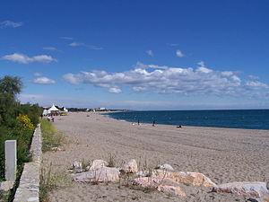 Argelès-sur-Mer - The beach at Argelès-sur-Mer
