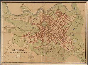 Plan of Yerevan 1920