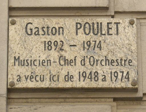 Plaque Gaston Poulet, 85 bis rue du Ranelagh, Paris 16