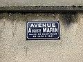 Plaque avenue Auguste Marin St Maur Fossés 1.jpg