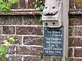 Plaque on the Crucifix, West Street, Alfriston, East Sussex - geograph.org.uk - 843532.jpg