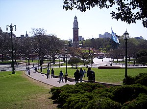 Plaza San Martín (Buenos Aires) - Plaza San Martín with the Torre Monumental in the center