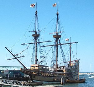 Mayflower II - Mayflower II at State Pier in Plymouth, Massachusetts, 2006