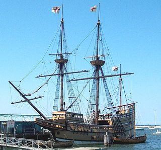 replica of the 17th-century ship Mayflower