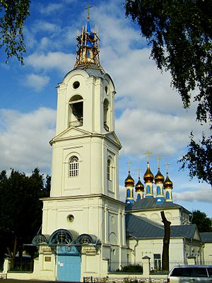 Pokrov, Vladimir Oblast - Belltower of Pokrovsky cathedral