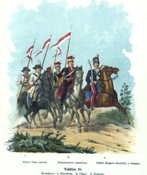 National Cavalry - Polish National Cavalry in 1794 painting of Walery Eljasz-Radzikowski