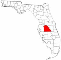 佛罗里达州波尔克县地图