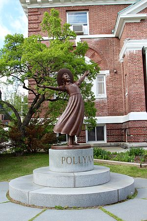 Pollyanna - Pollyanna statue in front of the public library in Littleton, New Hampshire