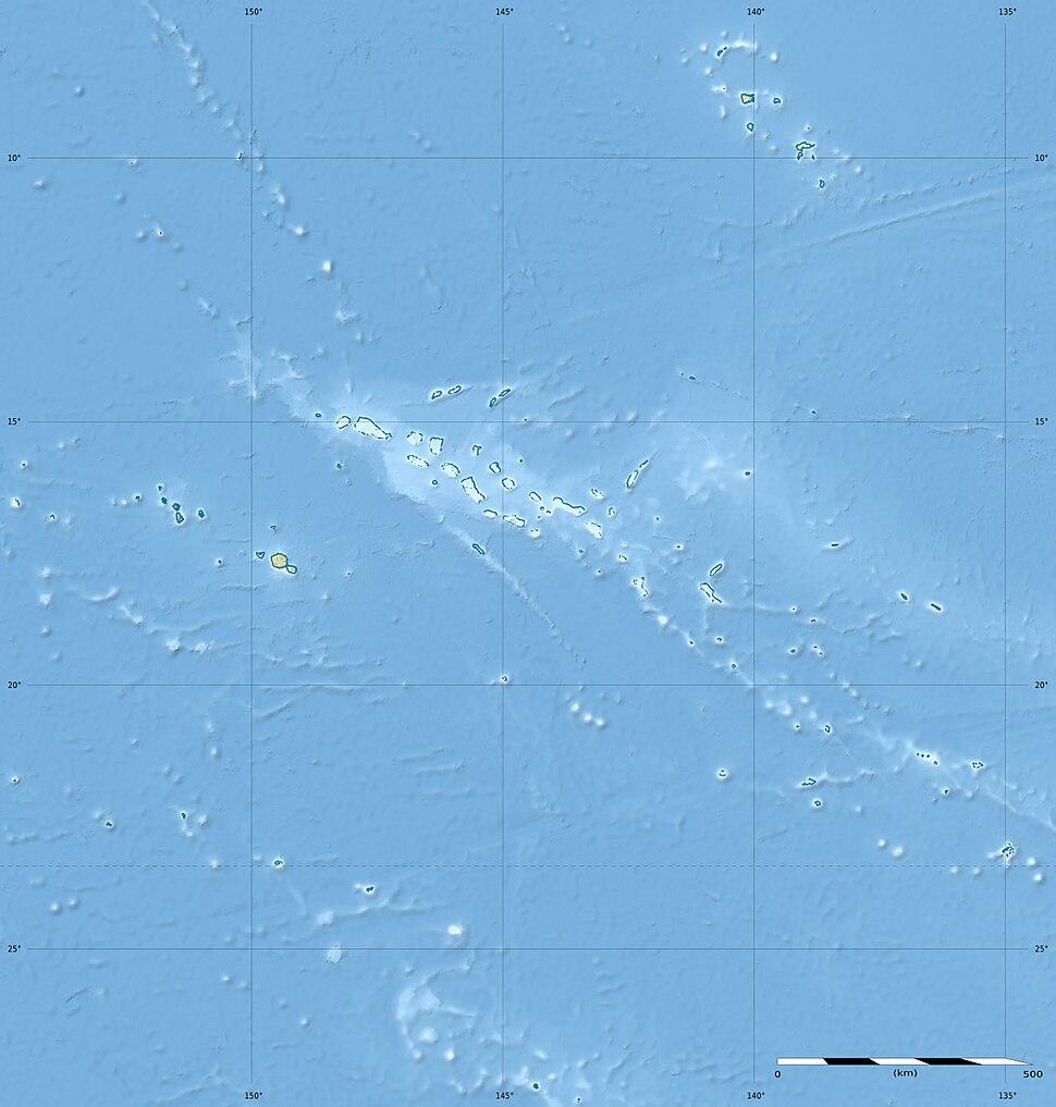 Polynésie française collectivity relief location map