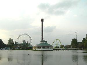 Pond of swan in Tobu Zoo park.jpg