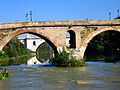 Ponte Milvio and fascist bridge.jpg
