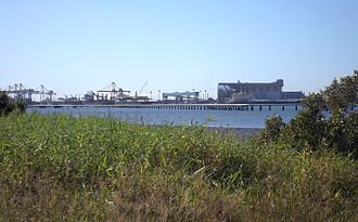 Port of Brisbane - View from Pinkenba, 2015
