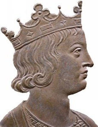 Dagobert II - Bronze medallion of King Dagobert II, c.1720.