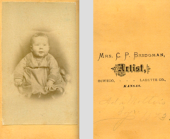 Portrait of baby by Mrs C P Bridgman of Oswego Kansas USA.png