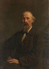 Portret van Pieter Stortenbeker (1828-1898), kunstschilder