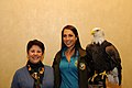 Posing for picture with Bald Eagle. (10595505486).jpg
