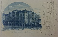 Postcard of Maribor Grammar School 1899.jpg