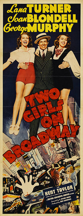 Description de l'image Poster - Two Girls on Broadway 01.jpg.